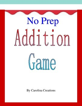 No Prep Addition Game Up to 6 Digits