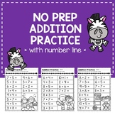 No Prep Addition Practice Pages