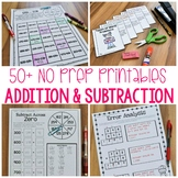 No Prep Addition and Subtraction