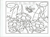 No Prep - Addition and Subtraction Color by Number: Spring Theme, Bee & Flowers