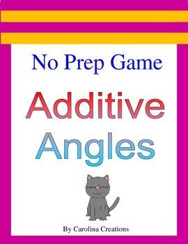 No Prep Additive Angles Game - 4.MD.C.7