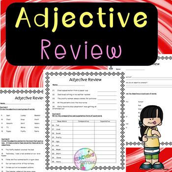 No Prep - Adjective Review