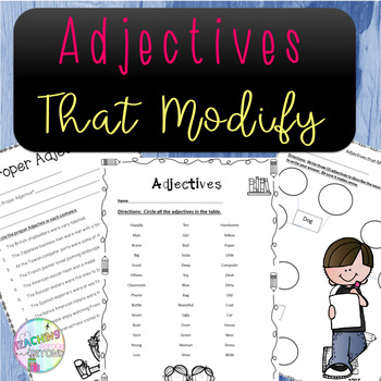 No-Prep Adjectives and Adjectives that Modify
