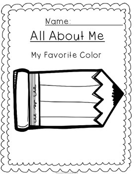 No Prep All About Me: My Favorite Color
