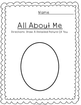 English worksheets: Self Portrait