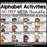 No Prep Alphabet Activities MEGA Bundle Pack