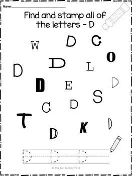 No Prep Alphabet Awareness ~ Uppercase
