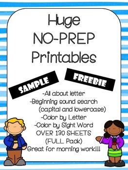 No Prep Alphabet Bundle