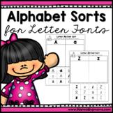 No Prep Alphabet Letter Font Sorts