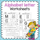 No Prep Alphabet Letter Worksheets