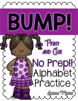 No Prep Alphabet Practice--BUMP!