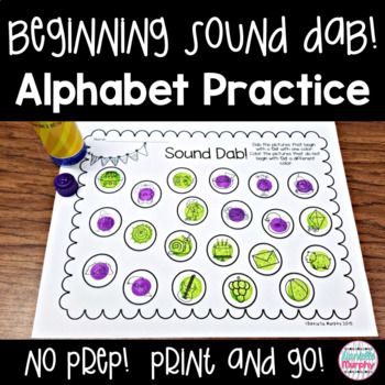 No Prep Alphabet Practice Beginning Sound Dab