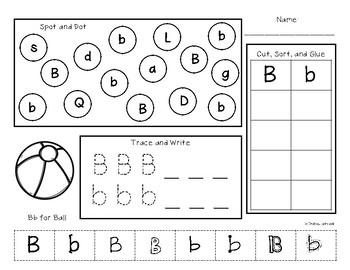 Alphabet Practice Pages {NO PREP!}