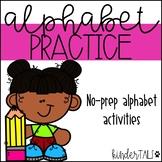 No-Prep Alphabet Printables