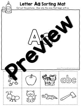 No Prep Alphabet Sounds Sorting Mats