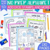 No Prep Alphabet Worksheet Bundle
