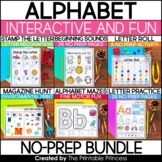 No Prep Alphabet Worksheet Bundle