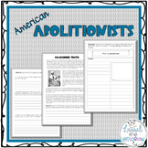 American Abolitionists Nonfiction Reading Passages and Wri