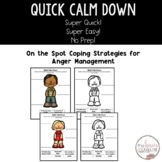 No Prep Anger Management Quick Calm Down Strategies