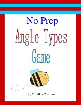 No Prep Angle Types Game - Fourth Grade Math 4.G.A.1