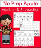 No Prep Apple Addition & Subtraction