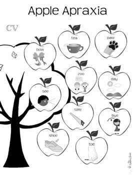 No Prep Apple Apraxia