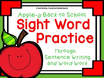 No Prep Apple Themed Sight Word Practice
