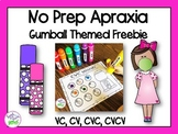 No Prep Apraxia Freebie for Speech Therapy