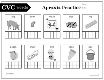 No Prep Apraxia and Progress Monitoring: Early Words