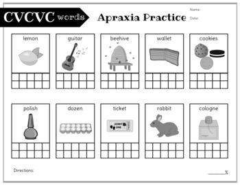 No Prep Apraxia and Progress Monitoring: Later Words