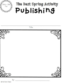 No Prep - April Writing Process Prompts