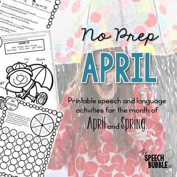No Prep April and Spring