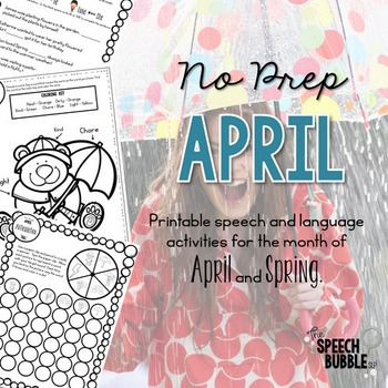 No Prep April and Spring