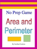 No Prep Area and Perimeter Game - 4.MD.A.3,  3.MD.C.7, and 3.MD.D.8