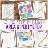 No Prep Area and Perimeter Printables - Encourage Higher Level Thinking