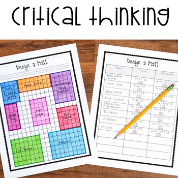 No Prep Area and Perimeter Printables - Encourage Higher Level Thinking