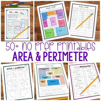 No Prep Area and Perimeter - Encourage Higher Level Thinking - Distance Learning
