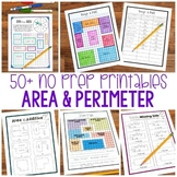 No Prep Area and Perimeter   Print and Digital