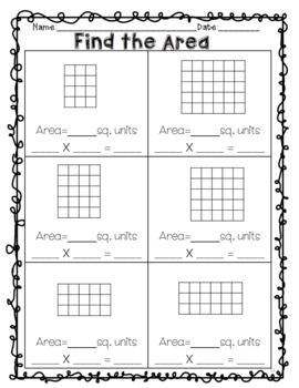 No Prep Area and Perimeter Worksheets and Games