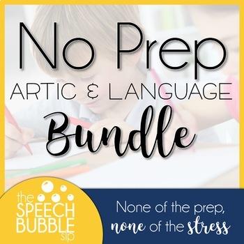 No Prep Artic and Language BUNDLE #feb2018slpmusthave