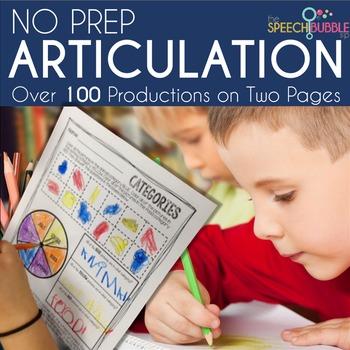 No Prep Articulation