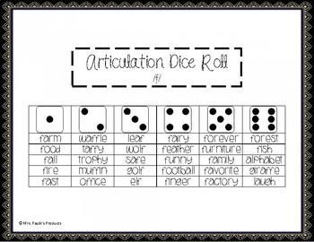 No Prep Articulation Activity- Dice Roll /f/