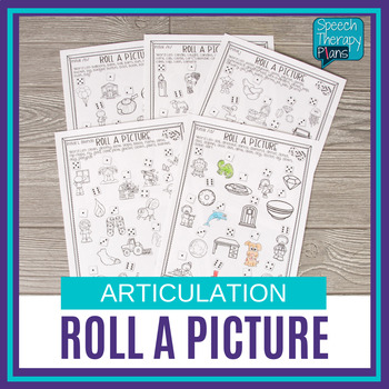 No Prep Articulation Activity - Roll A Picture