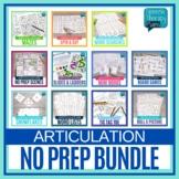 Speech No Prep Articulation Bundle | Speech Therapy