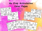 """No Prep Articulation Coloring Pages for """"sh"""" """"ch"""" and """"th"""""""