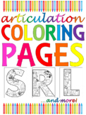 No-Prep Articulation Coloring Pages - /r/ /s/ /l/ /th/