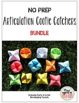 NO PREP Articulation Cootie Catchers