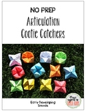 Cootie Catchers: Early Sounds p, b, m, t, d, n, k, g, f, v