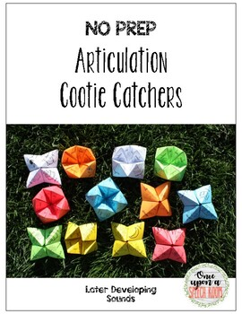 NO PREP Articulation Cootie Catchers for Later Developing Sounds