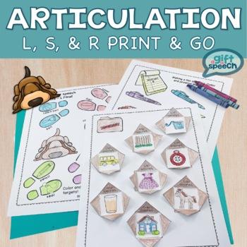 No Prep Articulation Detecting Targets L, R (er), and S